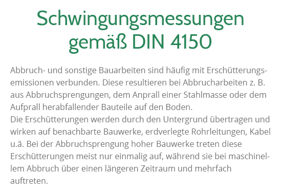Schwingungsmessungen gemäß DIN 4150